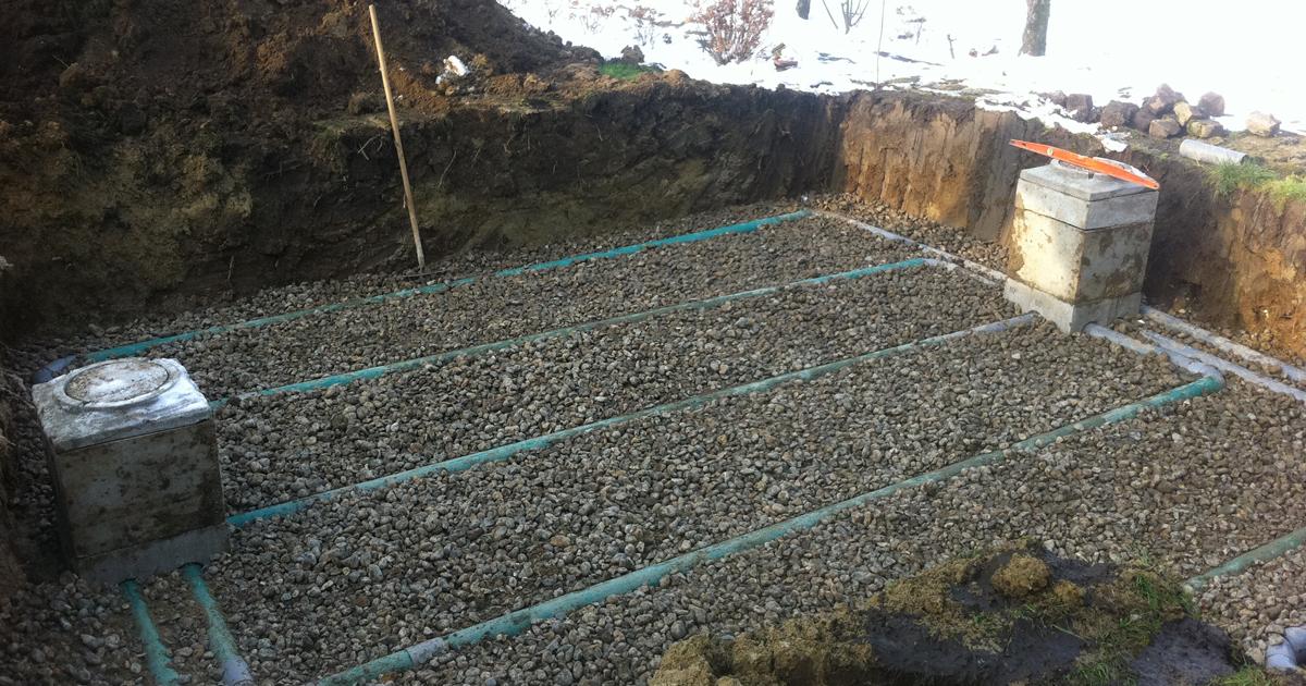 Assainissement autonome - Filtre à sable verticale drainé