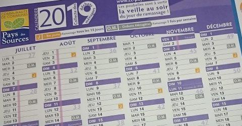 Votre calendrier du tri
