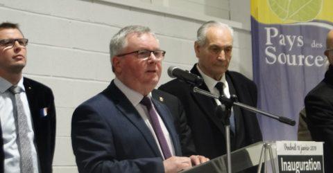 Inauguration de l'extension du gymnase et cérémonie des voeux de la Communauté de Communes du Pays des Sources
