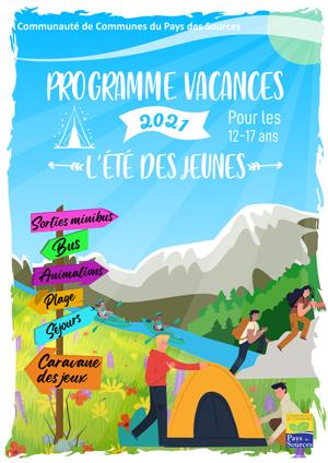 Programme des vacances de l'été des Jeunes - 2021